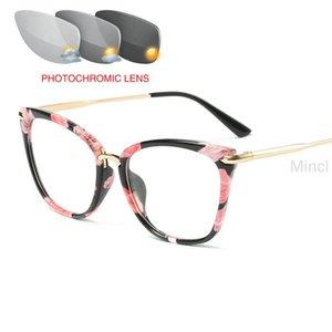 Переход Солнцезащитных очков Фотохромных кошки Reading Glasses для женщин Гиперметропии Пресбиопии с диоптриями Открытых пресбиопий FML