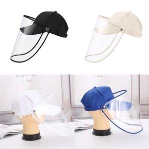 Sun Peaked Cap Transparent Baffles Anti Dust Dampers Fitted Hat Snapback Baseball Detachable Caps Mens Truckers Sunshade 11rk C2