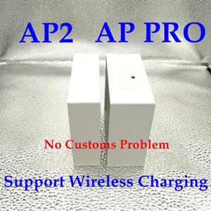 2020 für Airpods Pro Fälle 2 H1 AP-Chip-Top-Geräusch-Stornierungen AirPRO-GEN-Metallscharnier-Kunststoff-Wrap Silikon-Kopfhörer-Fälle für Airpods Tws