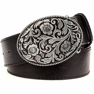 Retro Fashion belt men Tang dynasty flower design belt arabesque pattern golden flower Fashion element popular girdle women gift