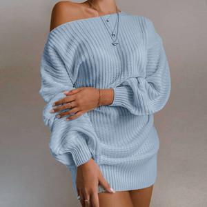 Sonbahar ve Kış Yün Blend Triko Elbise Yeni Moda Bayan Streetwear Elbiseler Giyim Yeni Stil Kadın Seksi Elbise