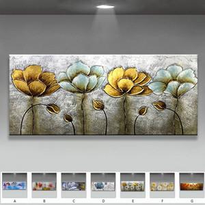 الأصلي رسمت باليد مجردة الزهور المشهد النفط الطلاء على قماش جدار الفن صور لغرفة المعيشة ديكور المنزل لا مؤطرة LJ201128