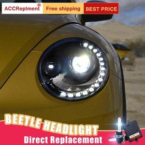 2Pcs LED Headlights For VW Beetle 2013-2020 led car lights Angel eyes xenon HID KIT Fog lights Daytime Running