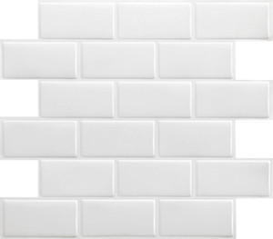 "Wall Sticker Wallpaper Tile Post Mosaic Modern Minimalist Style Kitchen Bathroom Waterproof and Dirt Proof 11"" x 10"""