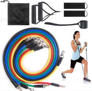 Pull Rope Fitness Exercises Resistance Bands Latex Tubes Pedal Excerciser Pull Rope Body Workout Training Home Accessories 11pcs set DHC1944