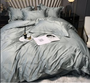 Conjunto de ropa de cama europeo Breve Cubierta de edredón de algodón egipcio Casa de cama de lino de lujo cubierta de edredón Euro colcha de almohada