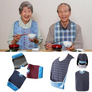 Large Waterproof Adult Aprons Mealtime Bibs Disability Mealtime Cloth Protector Detachable Disability Aid Aprons 78*44CM