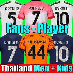 Hayranları Oyuncu versiyonu Human Race Juventus 4th 4th soccer jersey football HRFC shirt RONALDO DE LIGT KULUSEVSKI CHIESA 20 21 DYBALA 2020 2021 JUVE Men Kids kit