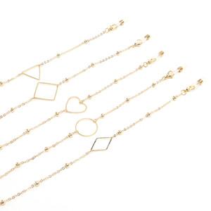 Déclaration géométrique Chaînes de lunettes de soleil minimalistes Lunettes de lecture Chaîne Eyewears cordon Holder courroie de cou Corde
