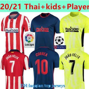 Thai + enfants + joueur 20 21 Atletico Madrid Football Maillots JOAO FELIX SAUL Camisetas de Fútbol Suarez Jersey CORREA DIEGO COSTA football shirt
