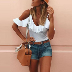 Womens Short Sleeve Solid Casual Loose Strapless T Shirt Tops Shirts t shirt women's summer blous