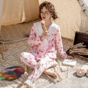 Anne Adayları Hemşirelik Pijama Takımı Uzun Kollu Vneck Tişört + Pantolon Hamile Kadınlar pijamalar Doğum sonrası anne Pijama