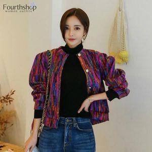 Fashion-2020 Fashion Jacket Coat Women Runway Designer Chromatic Cashmere Spring Autumn Single Breasted Long Sleeve Casual Outerwear New