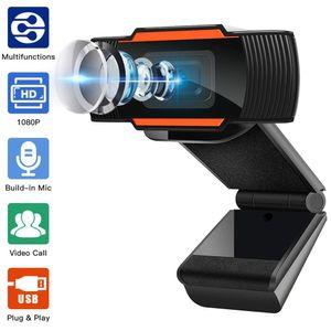 كاميرا كاميرا 1080P 720P 480P HD كاملة الويب المدمج في ميكروفون USB التوصيل كاميرا ويب على الكمبيوتر PC ماك أجهزة الكمبيوتر المحمول سطح المكتب يوتيوب سكايب