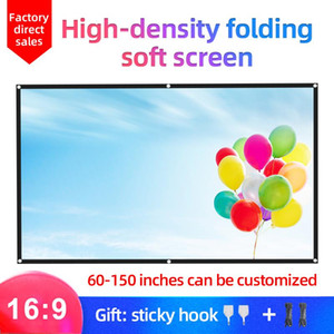 Mixito 16: 9 Highight Protive Portable Protile Projection экран 1080P 3D 4K HD проектор экран фильма 100 120 150 дюймов