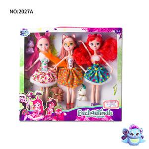 Monstruo de hadas muñecas Doll conjunto Juego de regalo caja de juguetes princesa Moda Bjd accesorios de las muñecas Barbie para las niñas sueñan juego de regalo