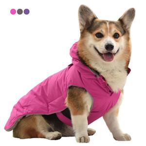 Perro al aire libre chaqueta reflexiva impermeable perro ropa ropa chaleco invierno cálido mascota algodón abrigo perros ropa para pequeños perros medios