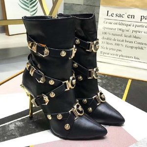 Fashion women boots red bottoms women Boot Girls Shoes With Studded Spikes Party Boots Winter Shoes Martin Cowboy C14