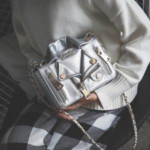 Сумка Женский 2020 Новый уникальный цепи мешок плеча Sling сумка в Jacket Loy европейской и американской моды Crossbody небольшой пакет All-Matching