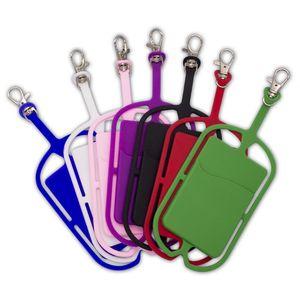 Силиконовые ремешки для телефона держатель чехол с ремешком с ремешком ремешок ожерелье Слинг карт висит для универсального мобильного телефона висит веревка EWC2638