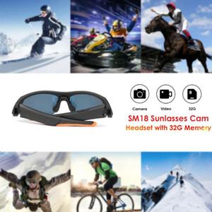 32gb cámara gafas de sol libres deportes reproductor de MP3 HD1080P mini cámara inteligente Vidrios con la Auricular Bluetooth Accesorios Deportes