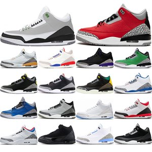 with free socks new arrival Jumpman 3 UNC 3s mens women basketball shoes Fragment Knicks Rivals Satin Chicago Trainers Sneakers