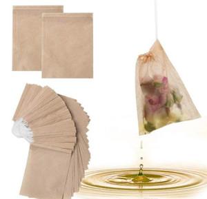 100 Pcs Lot Tea Filter Bags Natural Unbleached Paper Tea Bag Disposable Tea Infuser Empty Bag with Drawstring Bags