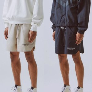Fog essentials shorts high street reflective nylon men and women's drawstring ribbon casual sports pants17R6