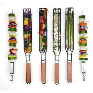 Paniers Barbecue BBQ Grill BBQ Outils net panier Barbecue Grill Paniers clip Plein Air cuisine HHA1660