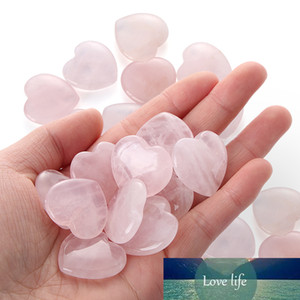 1Pcs New Heart Shaped Natural Rose Crystal Stone Pink Quartz Specimens Healing Stone Love Gems Home Decor Wedding Party Supplies