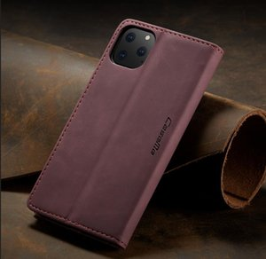 Coque de portefeuille de téléphone de luxe en cuir pour iPhone 11 12 PRO X XR XS Max Housse arrière pour Samsung Galaxy Note 9 10 S9 S10 S20 Note 20 Ultra