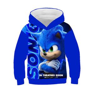 Sonic the Hedgehog ropa fresca del verano 3d hoodies de las muchachas de los niños de la familia camisas Los hoodies tapas de los niños Otoño 1006