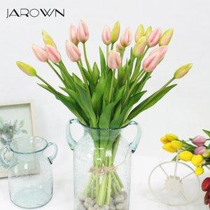 Simulation de jaronnier de véritable tulipe tactile artificielle de haute qualité latex tulipe bouquet flores pour décoration de mariage Decor1