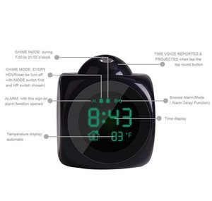 Projection Alarm Clock With Led Lamp Digital Voice Talking Function Led Wall Ceiling Projection Alarm Sn Temp jllicv eatout