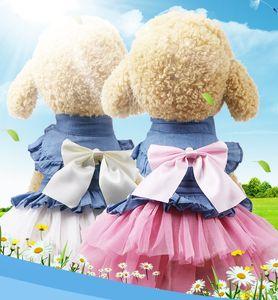 Nuovo cane vestito dall'animale domestico del gatto Abbigliamento Moda Gonna Small Dog abito da sposa primavera estate Puppy Pet abbigliamento vestiti XS-XXL