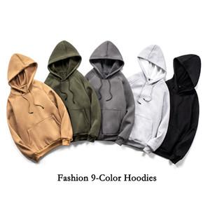 2020 Neue Designer MENS Womens Hoodies Massivfarbe Fleece Conton Kapuze Jumper Langarm Streetwear EU-Größe Pullover Sweatshirt