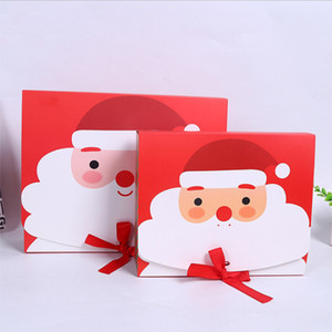 Christmas Eve Big Gift Box Santa & Fairy Design Papercard Kraft Present Party Favour Activity Box Red Green