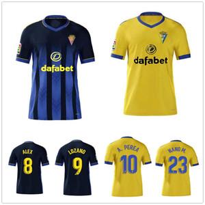 2020 2021 كاديز لكرة القدم الفانيلة كاديز CF Camisetas دي فوتبول 20 21 Lozano Alex A.Perea Santander مخصص الكبار + أطفال كرة القدم قميص موحد