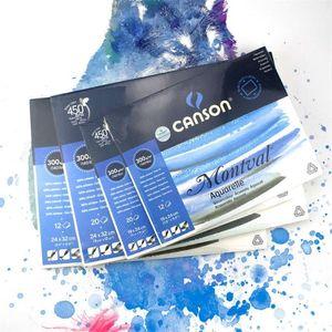 Canson 300g m2 Aquarelle Painting Watercolor Paper 8K 16K 32K 20Sheets Hand Painted Paint Watercolour Book Pad Art Supplies 201225