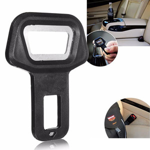 2020 Dual-use Car Safety belt Clip Car Seat Belt Buckle Vehicle-mounted Bottle Openers Black Hot Selling