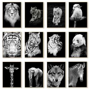 Toile peinture peinture animalier art lion éléphant cerf zèbre affiches et impressions images murales pour la décoration de salon décoration de la maison