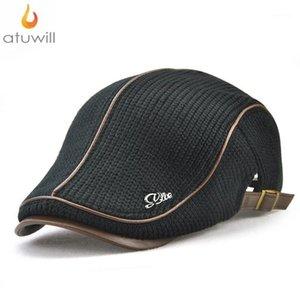 Atuwill Casual Örme Bere Şapka Düz Caps Erkekler Için İngiltere Stil Örme Zavallı Blinders Şapka Kadınlar Için Sonbahar Boina Hombre1