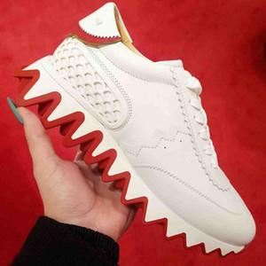 Saras Soles Red Casual Zapatos Casuales Genuinos Pisos para hombre Sneakers Loubiskark Sneaker de Lujo Diseñadores de lujo Hombres Donna Top Top Entrenadores