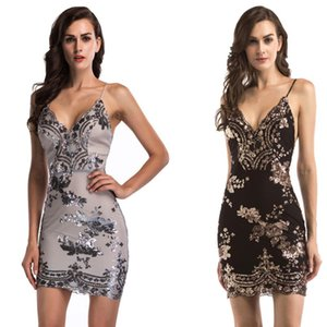 Sexy strapless back sequin dress women's clothing