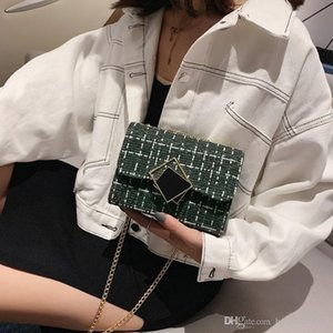 Chain Plaid Cross Body Bag For Women 2020 Fashion Messenger Bags Simple Wool Hasp Small Shoulder Bag Women Flap Bags Handbag