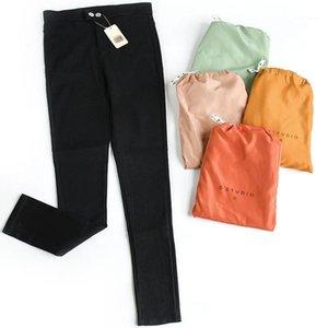 Femmes Leggings Section mince Strip et Automne Stretch Neuf Points Pieds Pantalon Crayon High Taille Nouveau Chaton Pantalon magique1