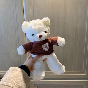30cm Sweater Teddy Bear Doll Stuffed Animals Cuddly Cute Plush Toy Pillow A Birthday Present for Girl 20190722