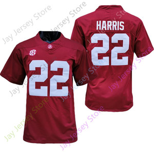 2020 New NCAA Alabama Crimson Tide Jerseys 22 Najee Harris College Football Jersey Size Youth Adult Red Embroidery