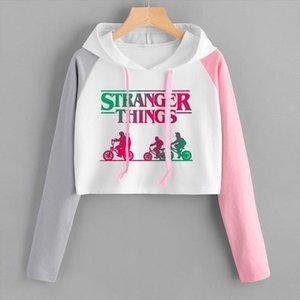Stranger Things Hoodie Women Crop Top Clothes Popular Hoodies Spring Autumn High Waist Short Sweatshirt Ms. Hoodie Drop Shipping