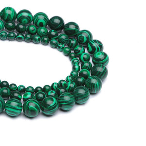 1strand Lot 4 6 8 10 12 Mm Striped Malachite Stone Beads Round Loose Spacer Charm Bead For Jewelry Making Diy Necklace H bbyRxe